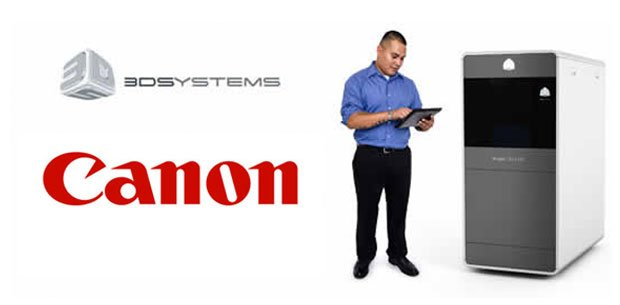 3D Systems partner with Canon