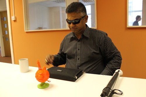 A selection of visually impaired people were consulted along the process