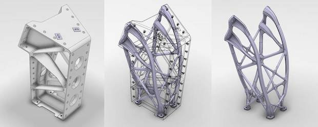 Evolution of existing multi-part bracket to ALM concept for Airbus Defence and Space's Eurostar spacecraft_Copyright Airbus Defence and Space Ltd 2015.jpg