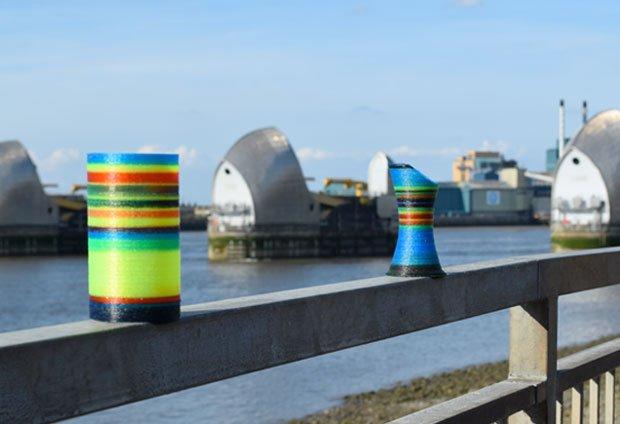 Stripy pots from 3D4C