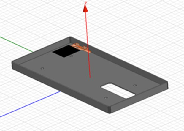 Design for the 3D Printed case and antena