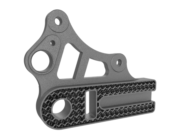 Rear wheel brake calliper hanger made with DMLS.png