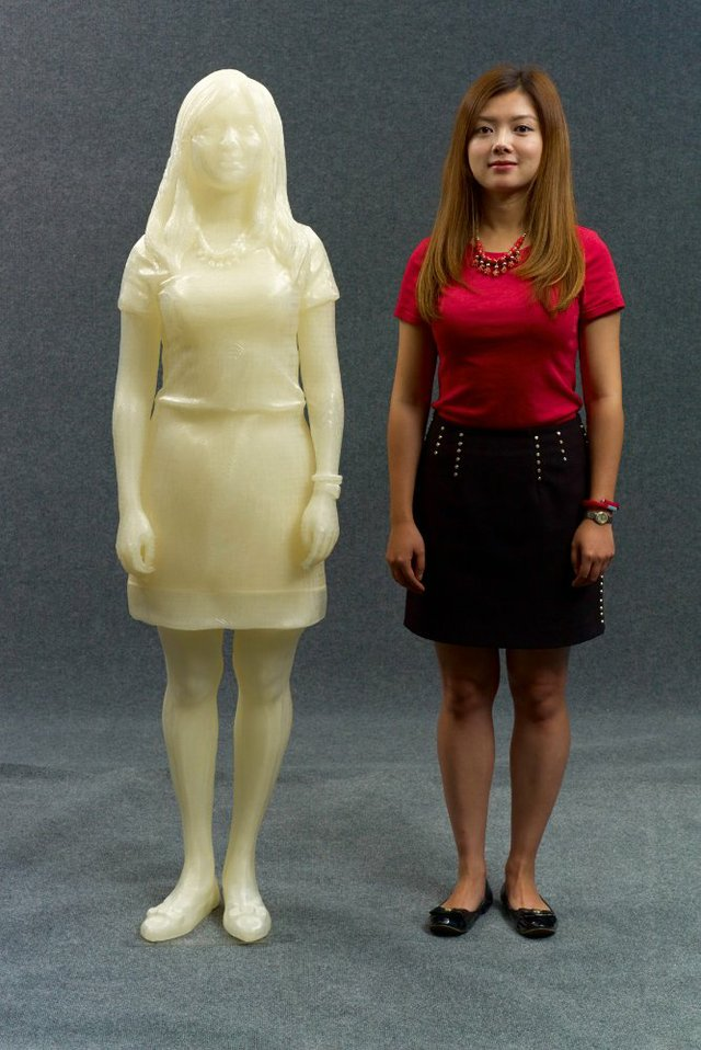 The 1:1 3D printed replica of Kecheng