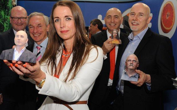Deidre Conor and Fintan show off their Mcor printed selfies.jpg