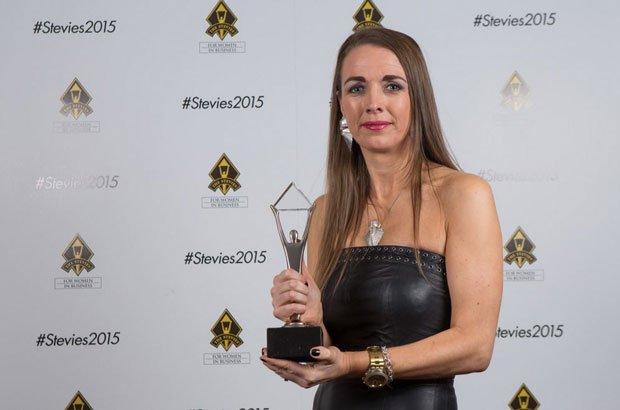 Deirdre scoops a Stevie Award