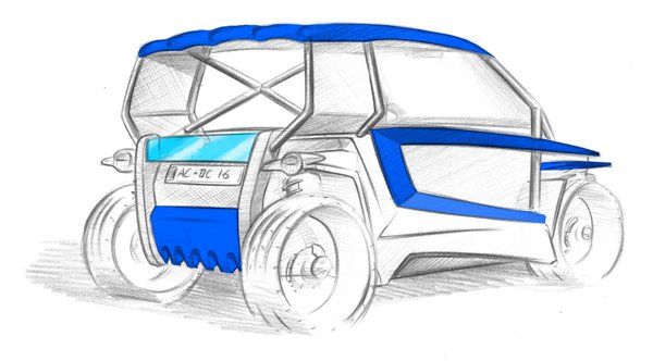 eGo car Sketch
