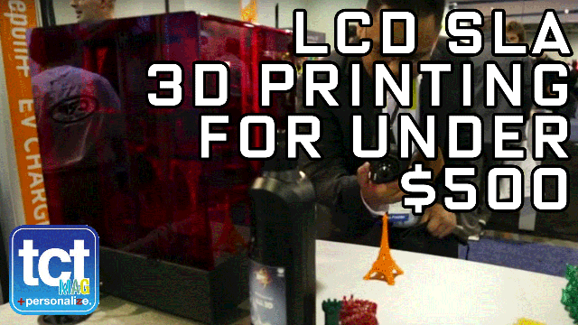 LCD SLA 3D Printing for under $500 at CES 2016