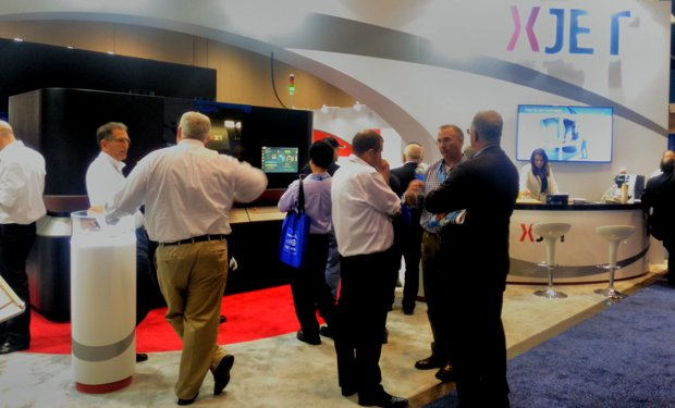 XJet booth at Rapid