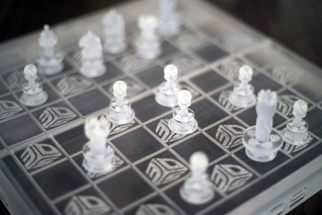 ProJet 2500 Clear Chess Set