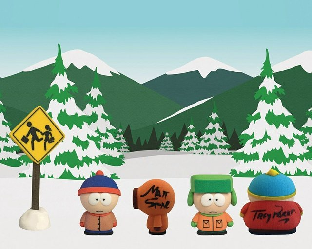 The South Park gang 3D Printed