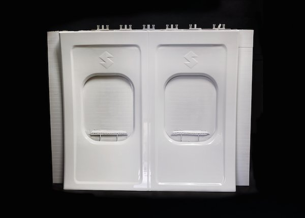 Interior aircraft panel printed on the Infinite-Build 3D Demonstrator.png