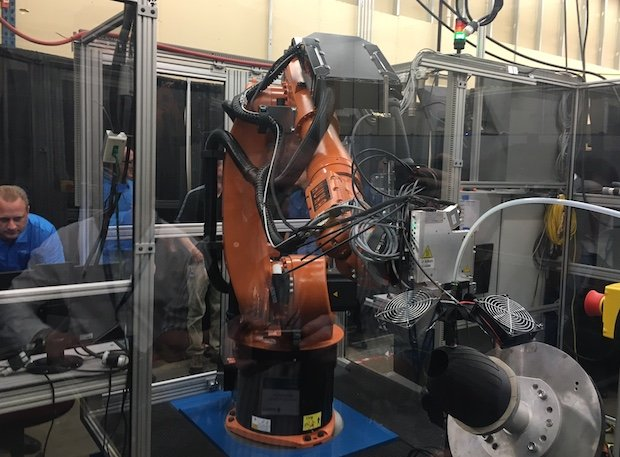 Robotic Composite 3D Demonstrator in action at Stratasys HQ.JPG