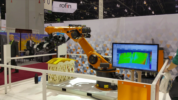 FARO and KUKA's robotic arm for automated inspection