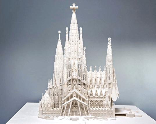 A 3D printed Sagrada Familia