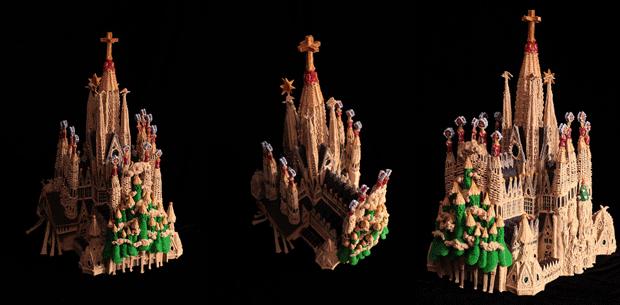 Sagrada Familia created with a 3Doodler
