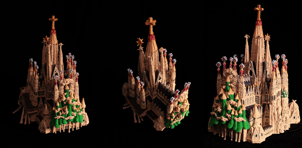 Sagrada Familia created with a 3Doodler