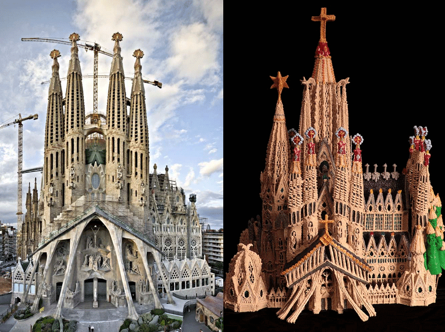 Sagrada Familia and the 3Doodled model