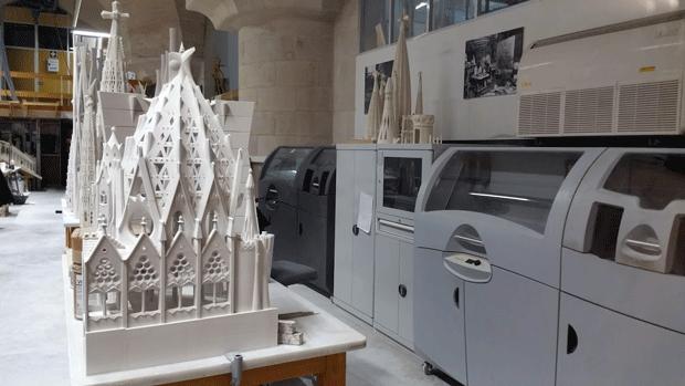 3D Systems 3D printers in situ at the Sagrada Familia