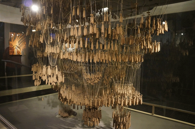 Gaudi's upside-down hanging models were created to visualise organic curvature