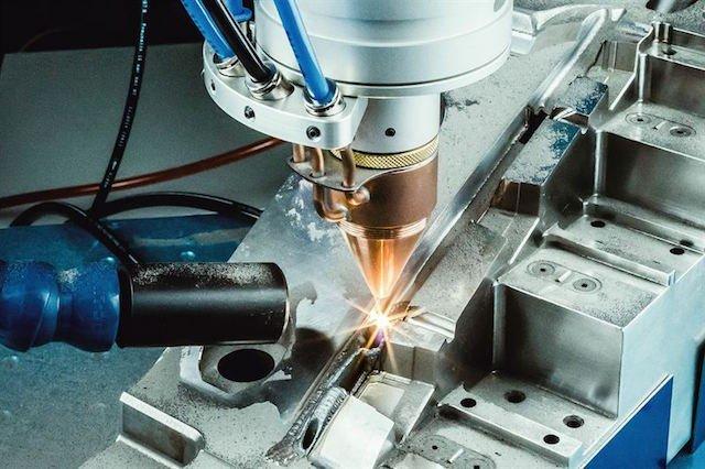 OR Laser application powder nozzle