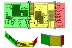 3D-printed map model