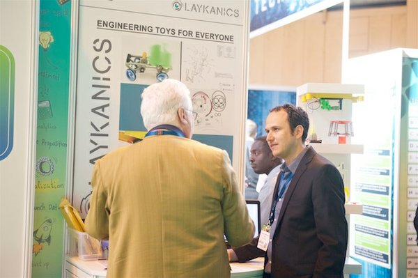 Laykanics exhibit in the TCT Start Up Zone