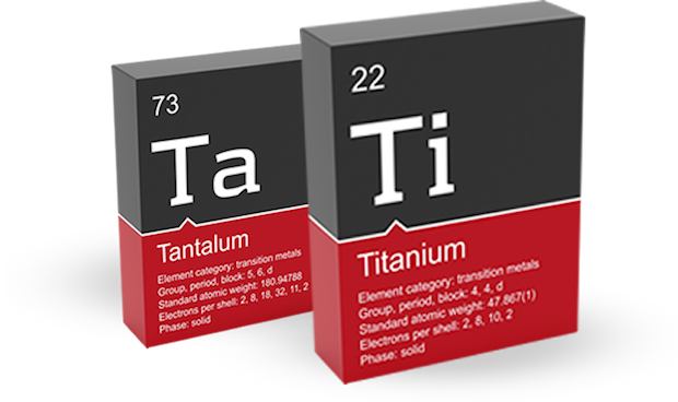 Titanium and Tantalum metal powders