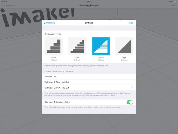 Ultimaker 3 App settings