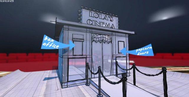 Blueprint for Lola's cinema den