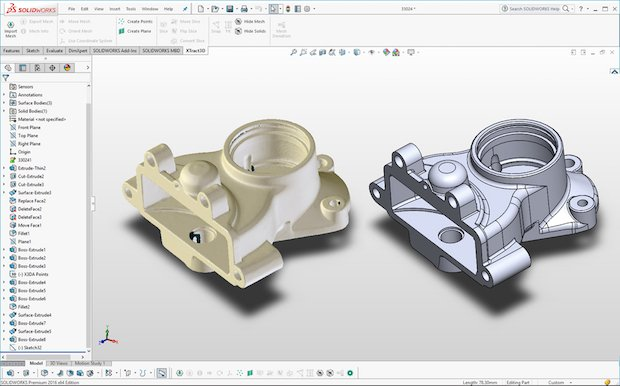 Polyga XTract3D Solidworks