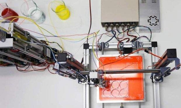 UC3M bioprinter skin printing