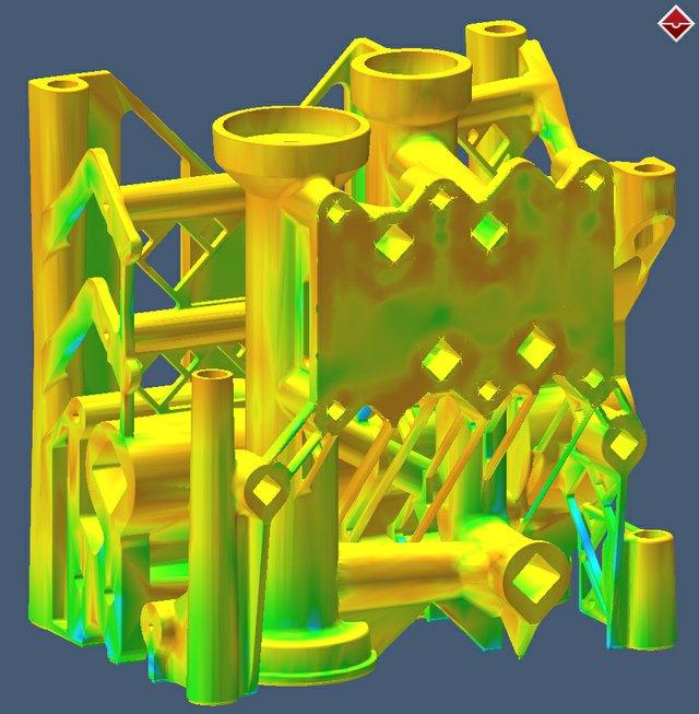 Simufact GR AM Manifold Distortion